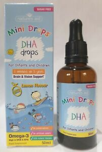 Natures Aid DHA Omega-3 Drops For Infants And Children' Age 3 Months To 5 Years