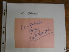 Autographe/Dédicace de C. BARDIN