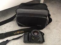 Minolta 9000 AF 35mm SLR Film Camera & 35-70mm Lens with camera bag TESTED