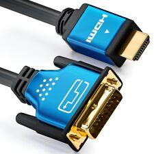 2m HDMI zu DVI Kabel - High Speed / 3D / Full HD / 1080p - deleyCON PREMIUM
