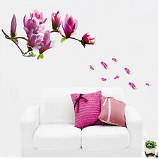 Magnolia Flowers Tree Wall Stickers Art Mural Nursery Wall Decals Home Decor AU