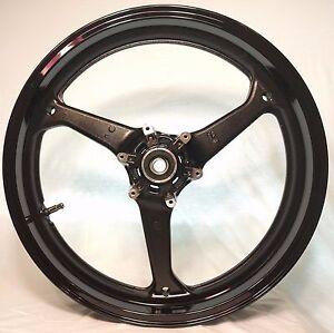 GLOSS BLACK Front Wheel Honda CBR 600RR 2007-15 CBR600RR 600RR CBR600 RR 600 Rim