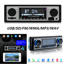 Car Stereo FM retro radio 12V Player Bluetooth Stereo MP3 USB SD AUX & Remote