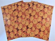 25 10x13 Designer Pumpkin Fall Holiday Poly Mailer Shipping Envelope Bag