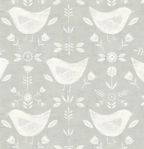 Fryett 'Baumwolle Schaumreiniger Vogel Druck Stoff Narvik Sammlung