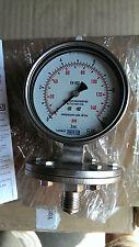 Wika Pressure Gauge 433.50 Stainless Steel Glycerine Filled