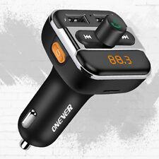 Voiture Audio Lecteur Mp3 Fm Transmetteur Bluetooth Kit Chargeur 3.4A Usb Tf