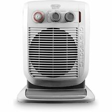 DeLonghi Caldobagno Bathroom Safe Portable Fan Space Heater Warm Room White Gray