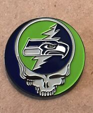Grateful Dead Seattle Seahawks Lapel Pin. Hat Pin. Steal Your Face.