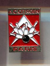 RARE PINS PIN'S .. AUTO CAR CITROEN CLUB TEAM BOWLING A.C SIEGE PARIS 75 ~CT