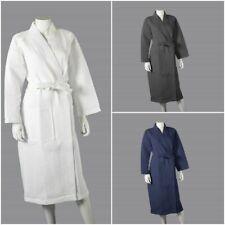 Soft Unisex Hotel Spa Waffle Bath Robe 100% Combed Cotton Dressing Gown Bathrobe