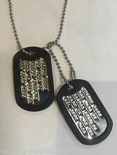 MILITARY PERSONALIZED DOG TAGS BALL CHAIN & SILENCERS MIL SPEC GI ARMY / USMC