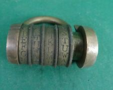 More details for antique combination code padlock, working order with code. georgian 18/19th c.