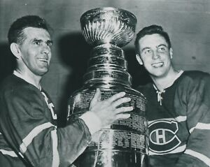 JEAN BELIVEAU MAURICE RICHARD MONTREAL CANADIENS CUP UNSIGNED 8x10 Photo