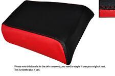 Rojo Y Negro Custom encaja Gilera mx1 125 Trasera de piel cubierta de asiento solamente