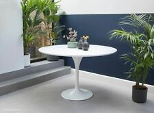 120cm Circular - White Laminate Tulip Table - designed by Eero Saarinen