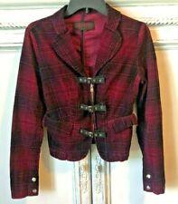 TRIPP NYC Purple Pink Plaid Goth Dress Suit Jacket Medium CY6360 Gothic Blazer