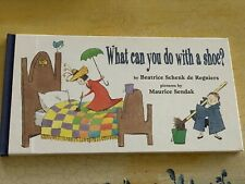 WHAT CAN YOU DO WITH A SHOE, Regniers,H/c1st Ed,LIKE NEW! M. Sendak illustrator