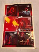 1973 Pink Floyd Dark Side of the Moon DSOTM Original Insert Poster NO LP Record