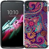 For IDOL 3 Alcatel One Touch Idol 3 (5.5 inch) Slim Dual Layer Hybrid Armor Case
