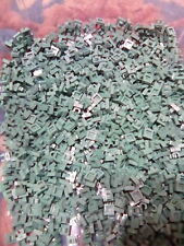 Lego Sand Green Tile Modified With Clip 200 Pieces NEW