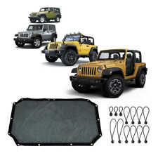 Mictuning Durable Polyester Mesh Shade Top Cover Provides UV for Jeep Wrangler