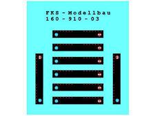 FKS 160-910-03 - Schmutzlappen Set 3 - Spur N - NEU