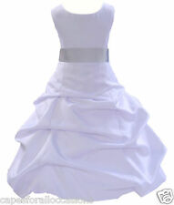 NEW MULTIPLE MATCHING COLORS FLOWER GIRL DRESS WEDDING SIZES 2 4 6 8 10 12 14 16