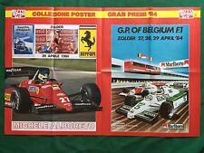 (FM20) POSTER GRAN PREMI F1 1984 ALBORETO BELGIO ZOLDER 80x55 cm da Auto Sprint