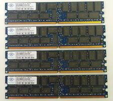 Kit de RAM Servidor 16 Gb Nanya que comprende 4 X 4 GB PC2-5300P módulos NT4GT72U4ND0BV-3C