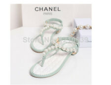 🎀 Brand New Korean Pearl Rhinestone Princess Strappy Sandal Shoes Size 6.5