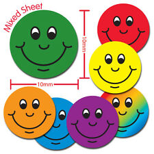 DD1P 3136 Mixed Smiles 10mm Stickers Teachers Schools Primary Teaching Services