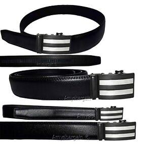 men's casual belt genuine leather dress auto lock men's black quick lock belt bn
