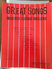 Magnus Chord Organ Music book #651 Great Songs