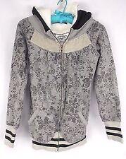 Scrapbook Originals Hoodie Jacket S XS ? Gray and Black Soft Hood Lined Cotton