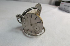 Antique 1865 British Hallmarked Sterling Silver Case Key Wind 16s Pocket Watch