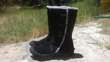 WOMEN'S SEXY FALL/WINTER BLACK *WOOLRICH BOOTS,FAUX FUR/ LEATHER UPPER,7M