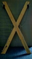 St Andrews Cross (BDSM Cross) Handcrafted in the USA. Portable 2 Minute Assembly