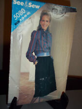 See & Sew 5080 Sewing Pattern Misses Blouse Skirt Size A 8 10 12  Uncut FF