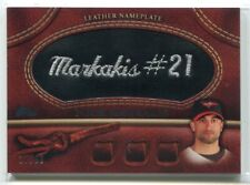 2011 Topps Glove Manufactured Leather Nameplates Black Nick Markakis Patch 10/99