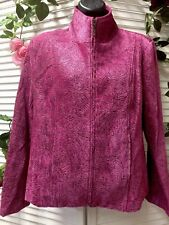 Renaissance Womens Jacket Pink Clor Size S Full Zipper