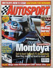 Autosport Revista 15th 2002 de agosto-Montoya, WRC Finlandia