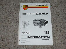 1985 Porsche 944 Turbo DME KLR Test Plan Shop Service Repair Workshop Manual
