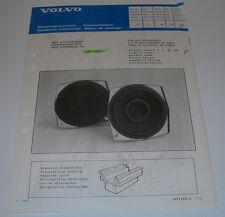 Einbauanleitung Volvo 440 480 Tür Lautsprechersatz Door Loudspeaker Set 04/1987!