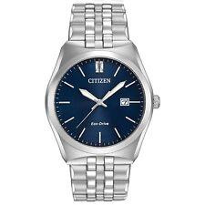 Citizen Eco-Drive Men's Corso Blue Dial Silver-Tone 40mm Watch BM7330-59L