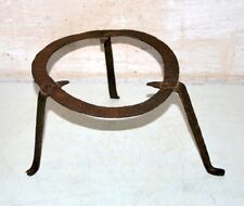 Old Antique Original India Iron Hand Forged Tribal House Pot Stand  Folk Art