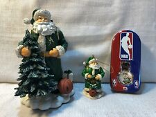 3 Boston Celtics Basketball Memory Company NBA Santa Ornament Mens Floater Watch