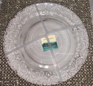 x6 Cynthia Rowley Gray Melamine Dinner Plate Set Medallion Swirl Rustic Tuscan