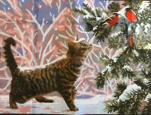 """""""Christmas Eve"""" Printed Needlepoint Tapestry  Canvas 10513"""