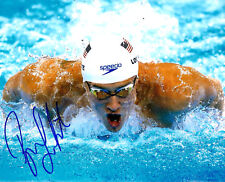 RYAN LOCHTE OLYMPIC GOLD MEDAL HAND SIGNED AUTOGRAPHED 8X10 PHOTO #2 W/COA